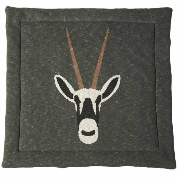Quax Krabbeldecke Feinstrick Antilope khaki 100 x 100