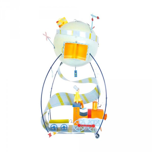 L' Oiseau Bateau Mobile Heissluftballon Schlumpeter Lokomotive