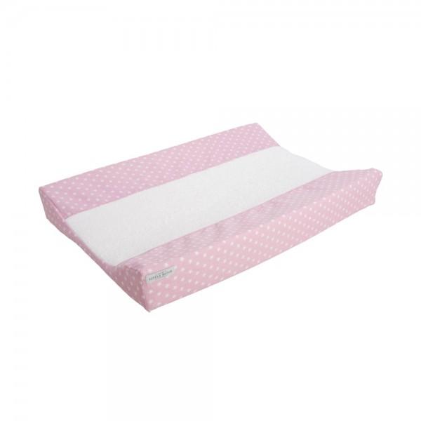 Little Dutch Wickelauflagenbezug Sterne rosa