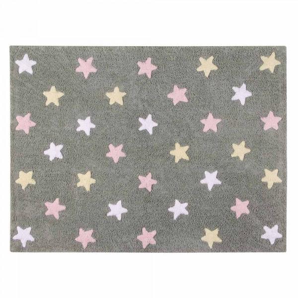Lorena Canals Teppich Sterne grau rosa