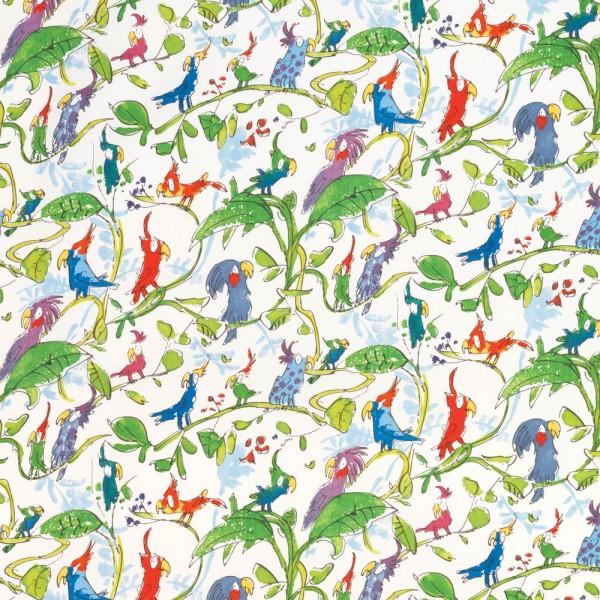 Osborne & Little Stoff Kakadu blau grün
