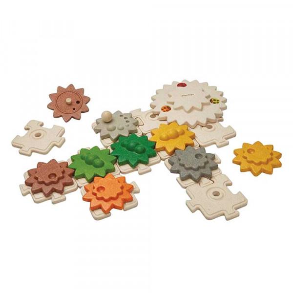 Plan Toys Kinderpuzzle Getriebe Holz