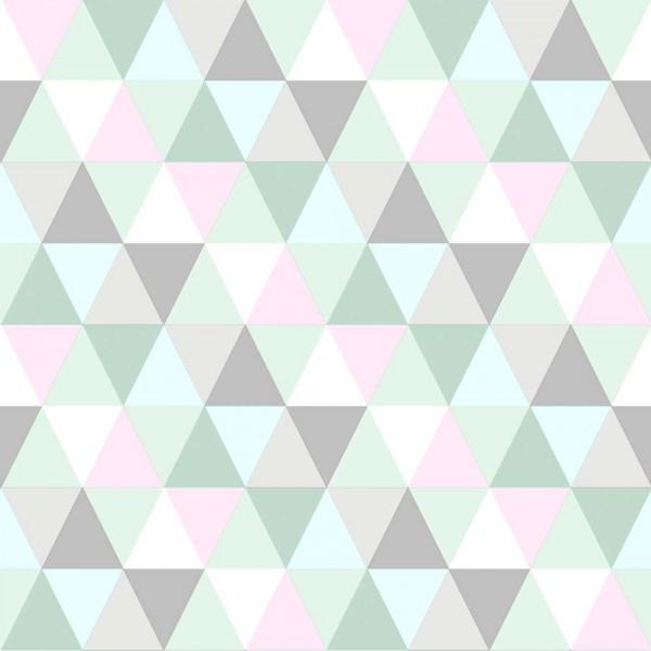 Rasch Textil Everybody Bonjour Tapete Dreiecke mint rosa