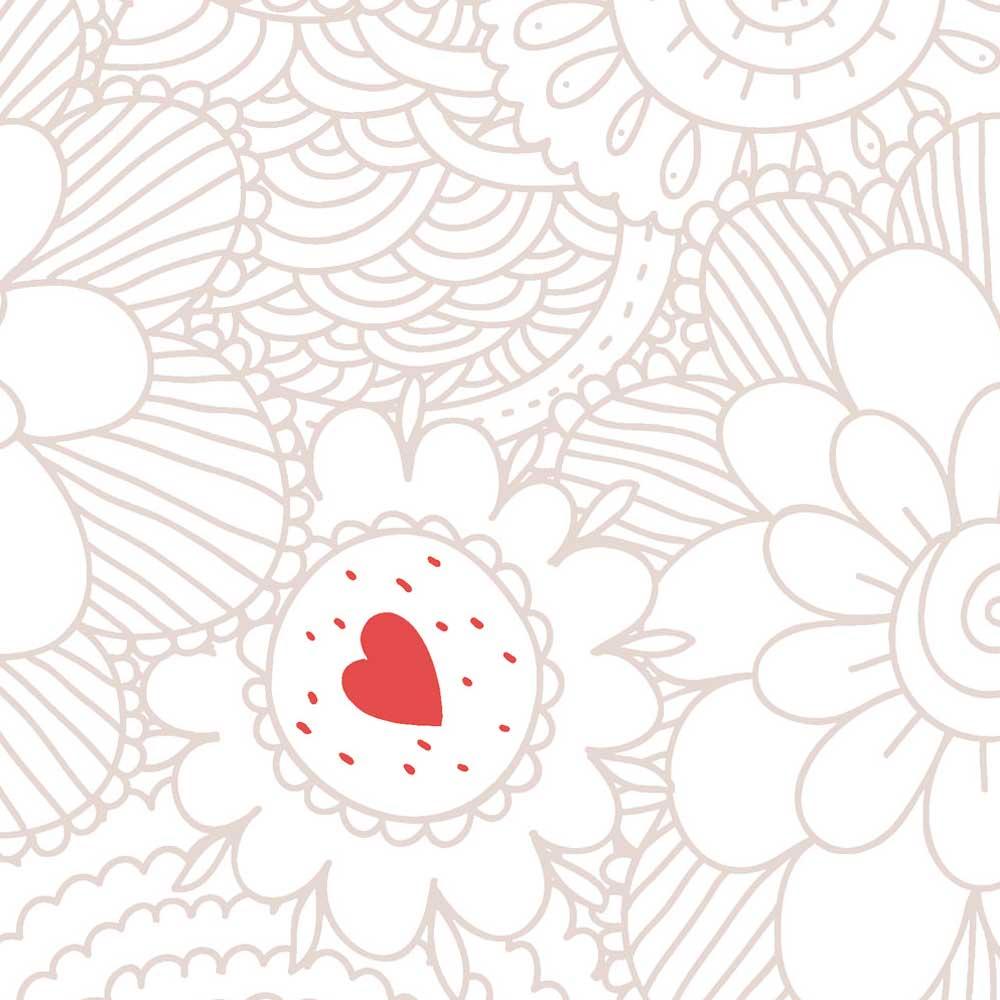 caselio ohlala tapete blumen ornamente gold rot lila bei kinder r ume. Black Bedroom Furniture Sets. Home Design Ideas
