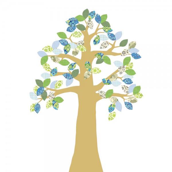 Inke Tapetenbaum gold grün/blau