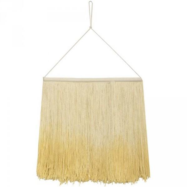 Lorena Canals Wandteppich Fransen Tie Dye gelb