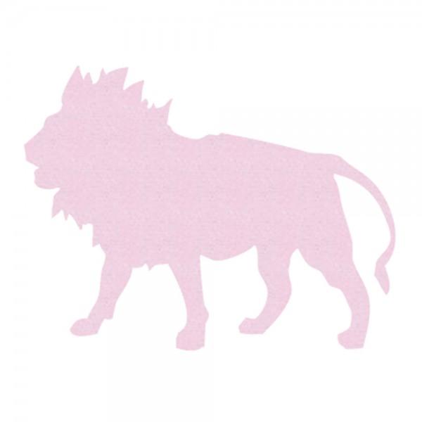 Inke Tapetentier Löwe uni rosa