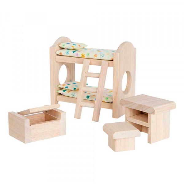 Plan Toys Kinderzimmer klassisch Zubehör für Puppenhaus