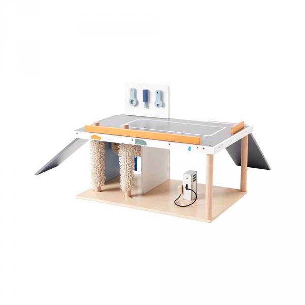 Kids Concept Spielzeug Werkstatt mit Waschstrasse Holz