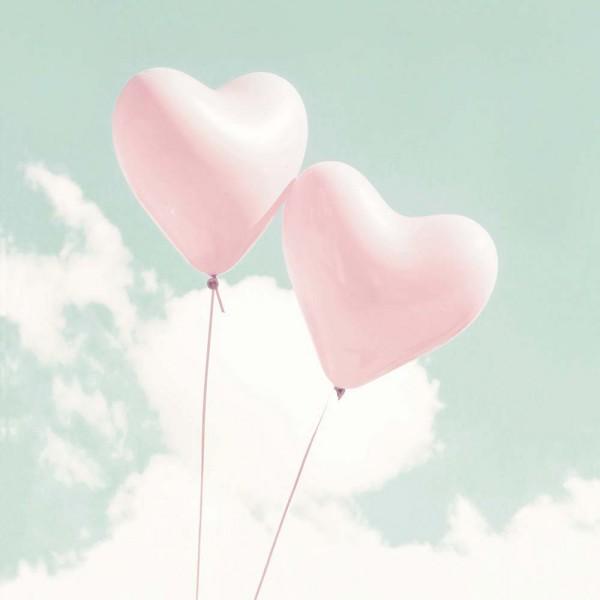 Casadeco Alice & Paul Wandbild Luftballon Herzen