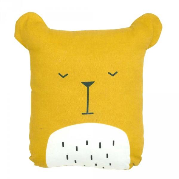 Fabelab Dekokissen Bär gelb