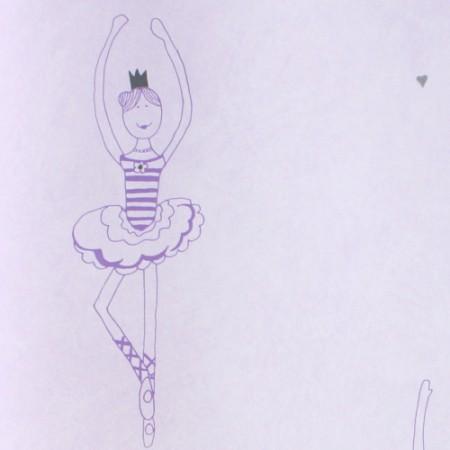 Harlequin Tapete Ballett lila