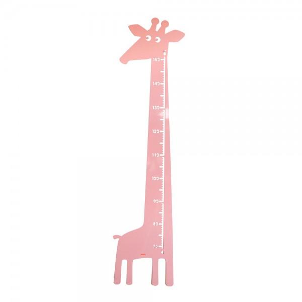 Roommate Messlatte Giraffe Metall rosa