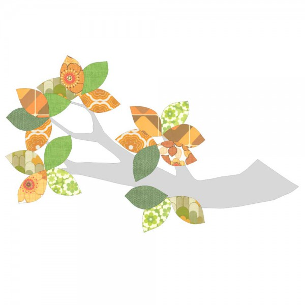 Inke Tapetenast silber grün/braun