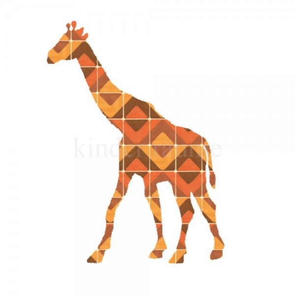 Inke Tapetentier Giraffe 077