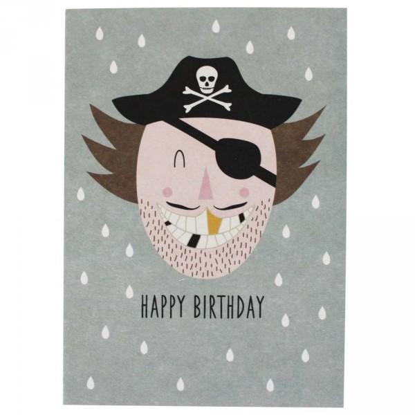 Ava & Yves Postkarte Geburtstag Pirat