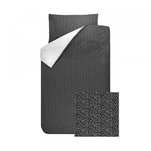Bink Kinderbettwäsche Sil Minitüpfchen schwarz weiss 100 x 135