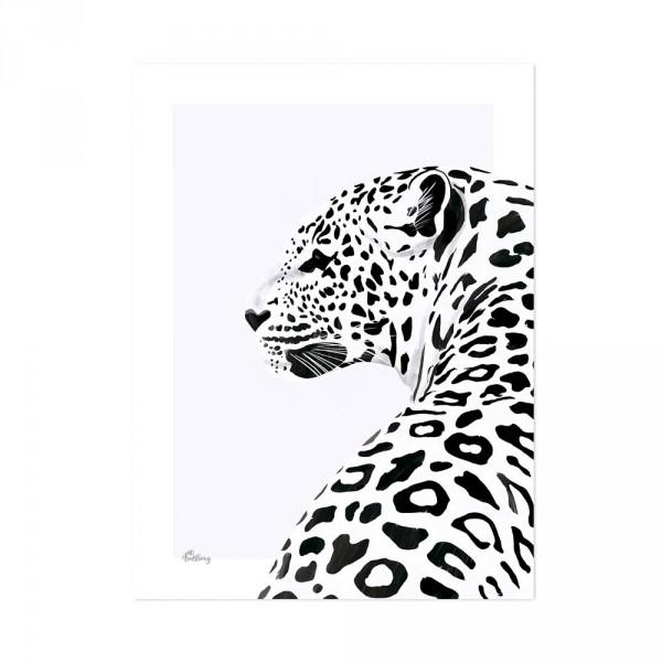 Lilipinso Poster Leopard schwarz weiss