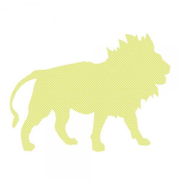 Inke Tapetentier Löwe grün Punkte weiss