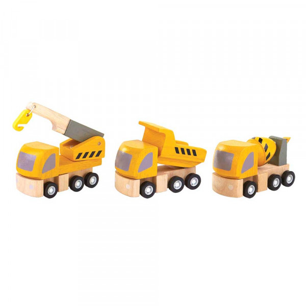 Plan Toys Spielzeug Strassenwartung-Set Holz