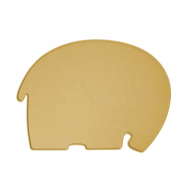 Sebra Kinder Tischset Silikon Elefant senfgelb