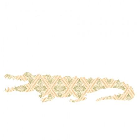 Inke Tapetentier Krokodil Raute beige