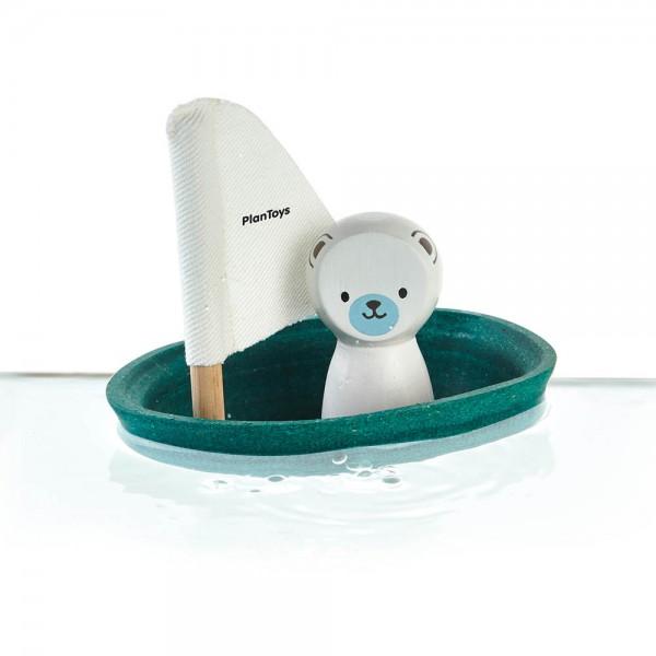 Plan Toys Badewannen-Boot petrol Polarbär