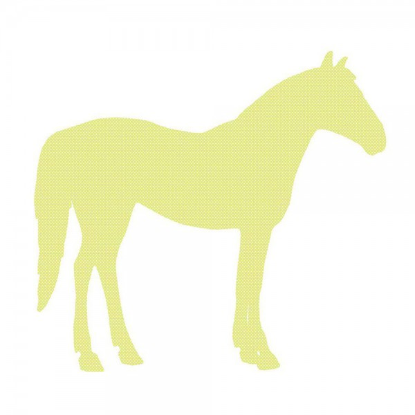 Inke Tapetentier Pferd grün Punkte weiss