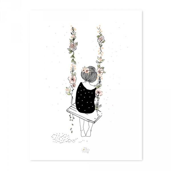 Lilipinso Poster Kleines Mädchen schaukelt