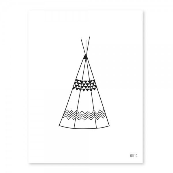 Lilipinso Poster Indianer Zelt