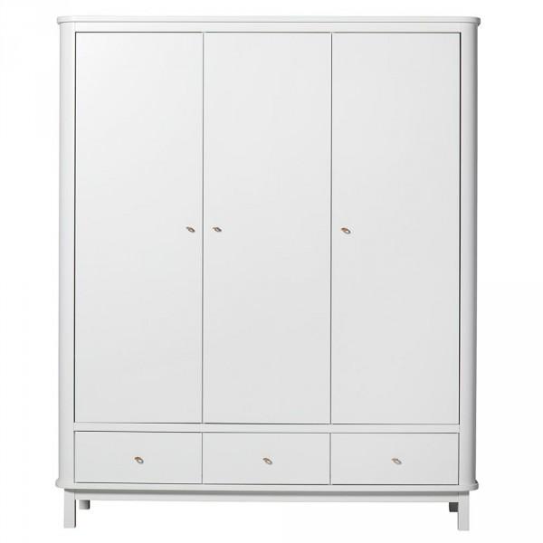 Oliver Furniture Wood Kleiderschrank 3 türig weiss
