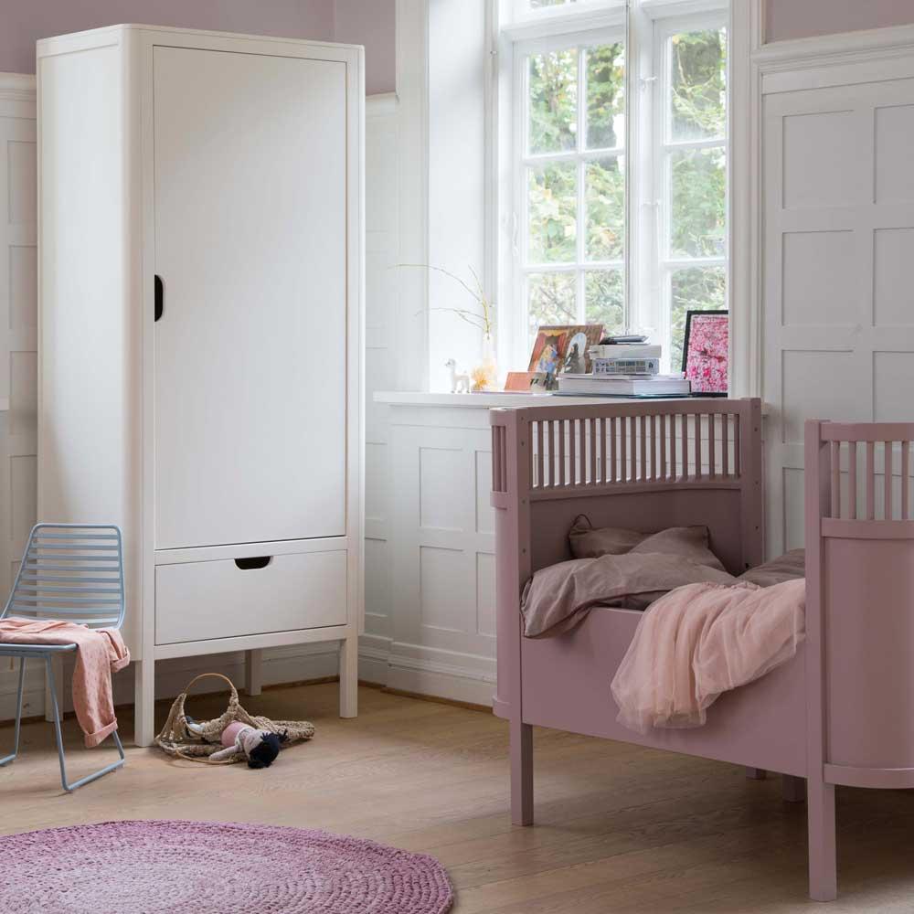 Sebra Babyzimmer komplett weiss 1 türiger Schrank