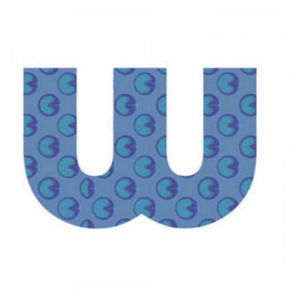 Lilipinso Sticker blau Buchstabe w