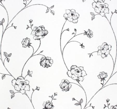 Esta Home Tapete Blumenranke Schwarz Bei Kinder Räume