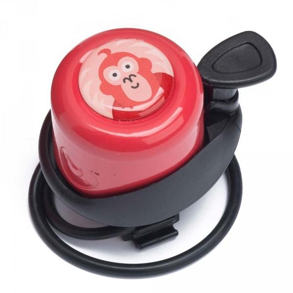 Wishbone Klingel für Laufrad Affe rot