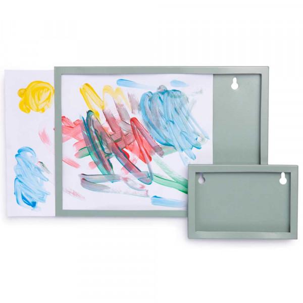 Kidsdepot Bilderrahmen Wand DIN A4 Metall grün
