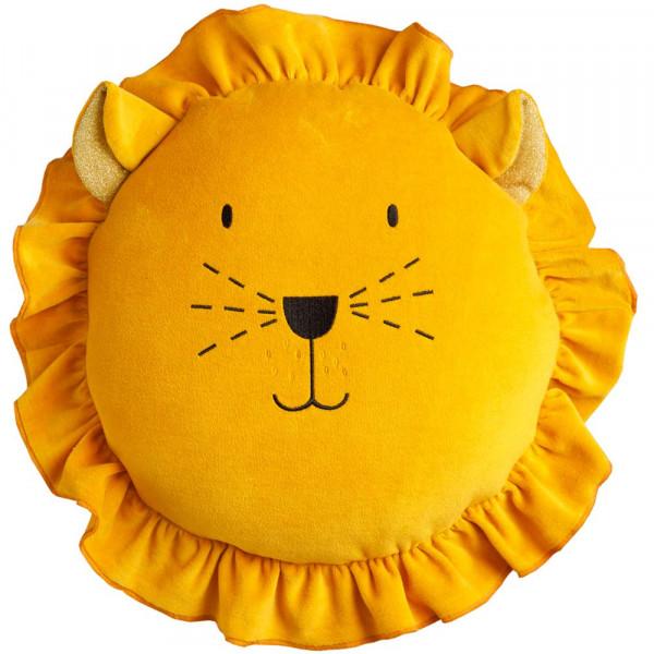 Wigiwama Spielkissen Samt Löwe gelb
