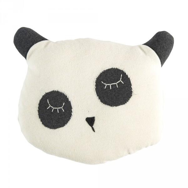 Sebra Strick Kissen Panda schwarz weiss
