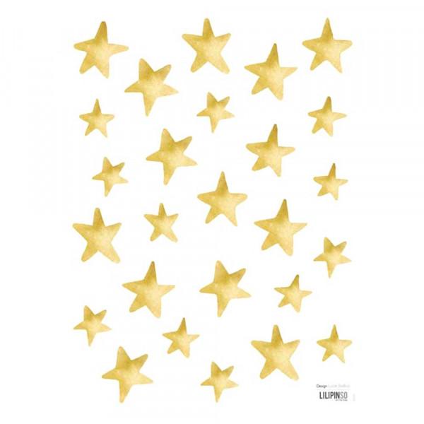 Lilipinso Wandsticker Sterne gold