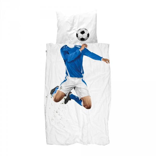 Snurk Bettwäsche Fußballer blau 135 x 200
