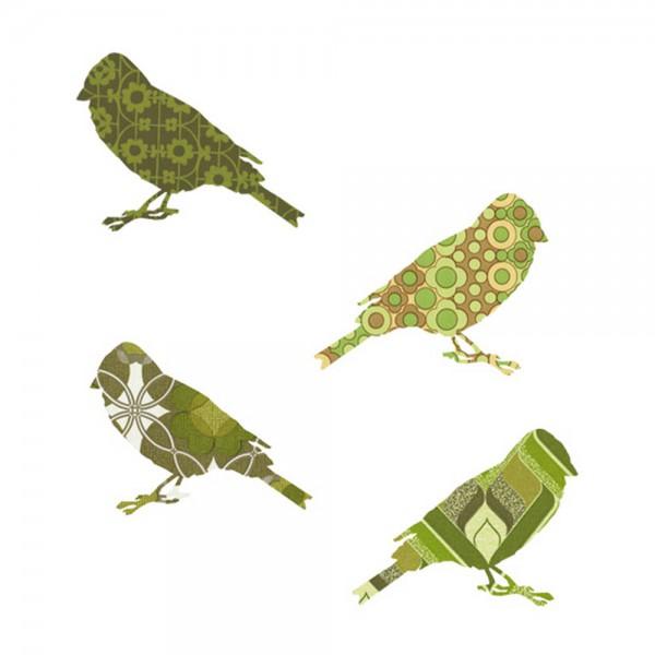 Inke Tapetenvögel grün