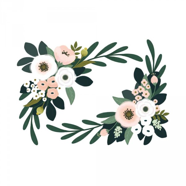 Lilipinso Wandsticker XL Blumengestecke rosa grün