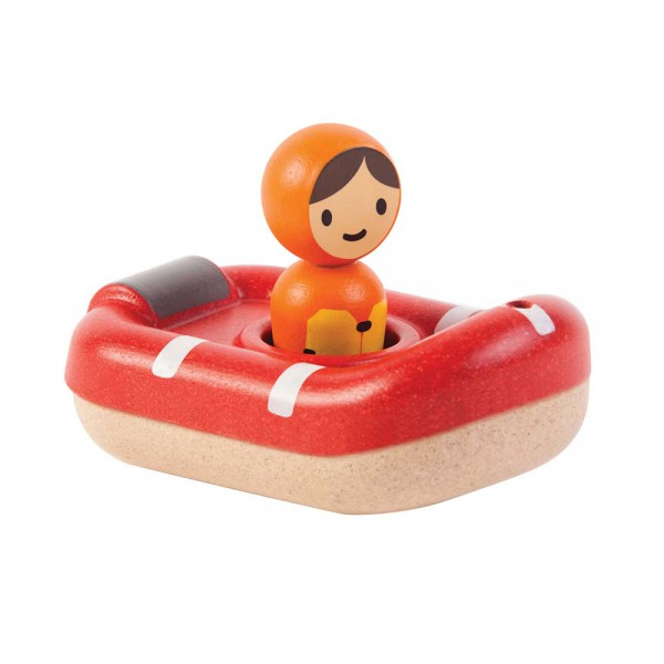 Plan Toys Badewannen-Boot Holz rot