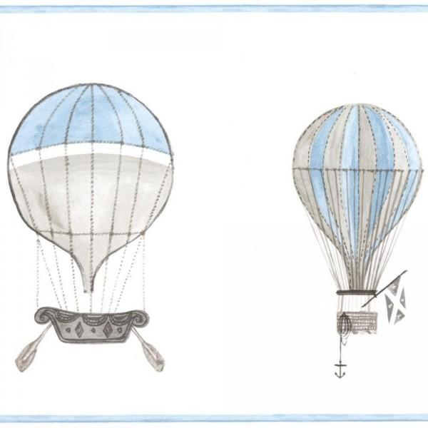 Casadeco Bordüre Ballons grau blau Jules & Julie