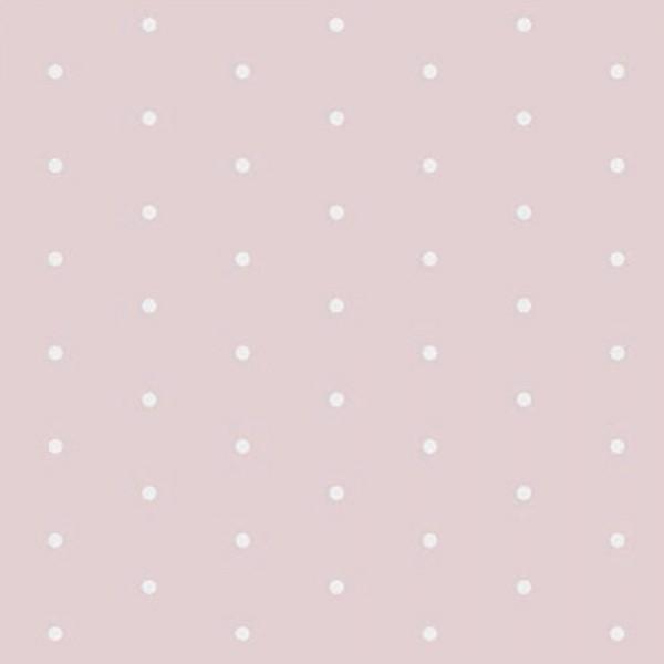 Casadeco Alice & Paul Tapete weisse Pünktchen auf rosa