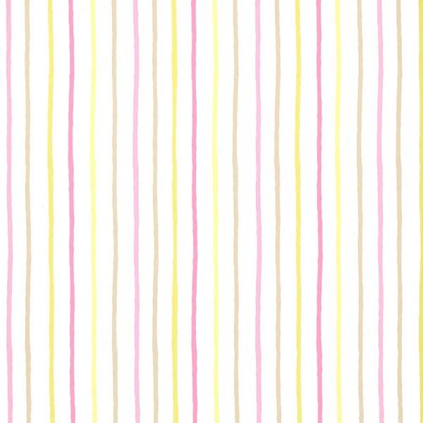 Caselio Girls only Tapete Streifen lime rosa beige