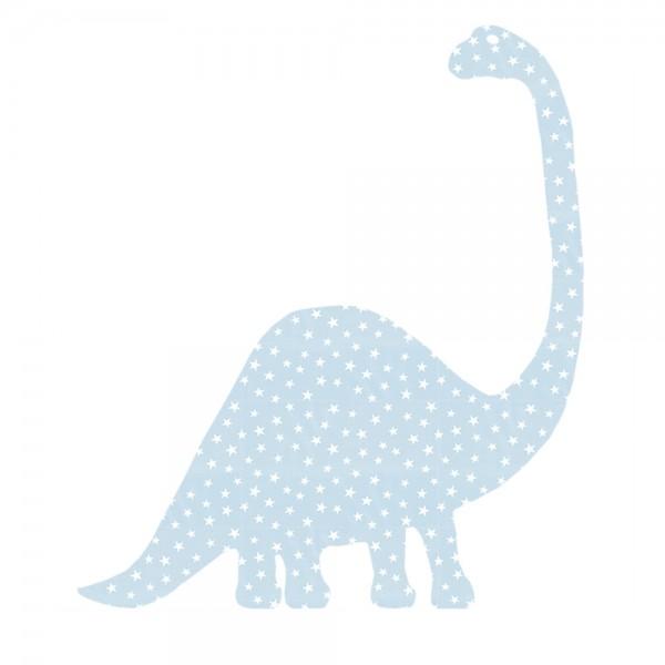 Inke Tapetentier Brontosaurus hellblau Sterne