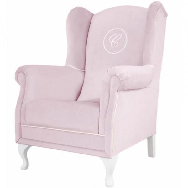 Caramella Polstersessel / Stillstuhl mit Emblem rosa