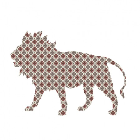 Inke Tapetentier Löwe Raster braun