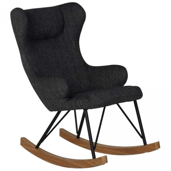 Quax Kinderschaukelstuhl De Luxe schwarz